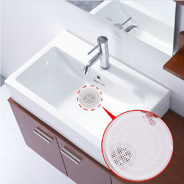 Resin White Scalable Strainers Kitchen Sink Filter Sewer Drain ...