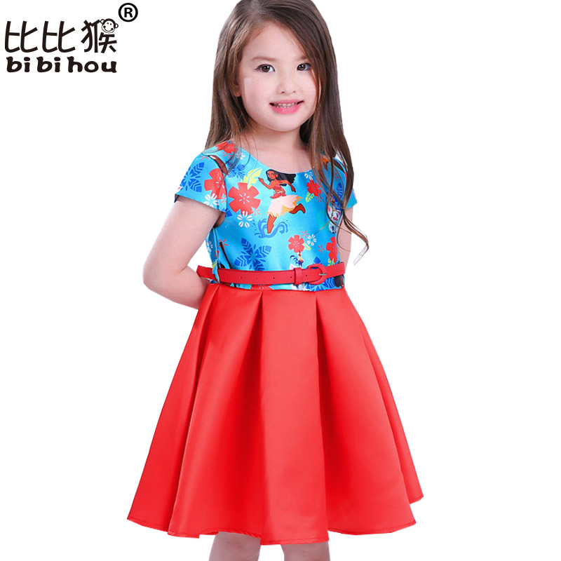Gril Dress Summer Style Dream Tropical Ocean Dress Moana Dresses Infant Baby Girls Clothing