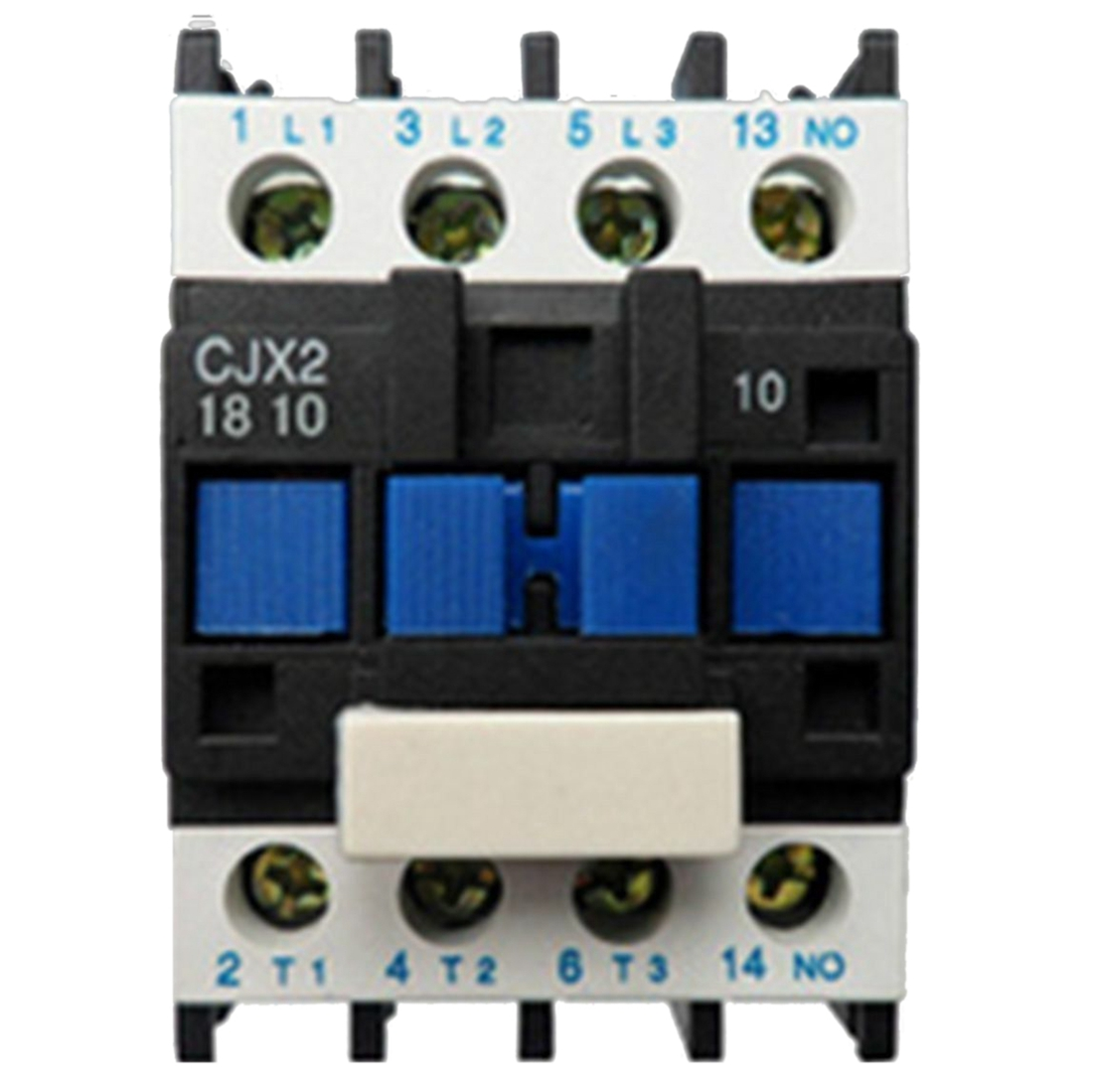 цена на AC Contactor Motor Starter Relay (LC1) CJX2-1810 3P+NO 220V Coil 18A 4KW Blue&black
