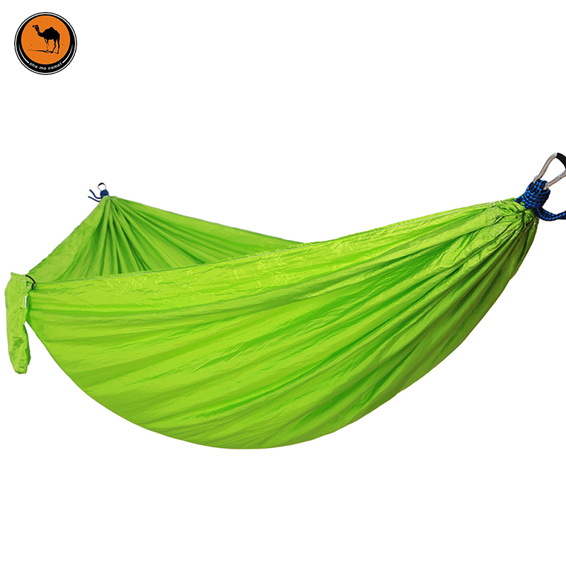 2-Person Hammock Portable Parachute Garden Beach Travel Canvas Nylon Fabric Hammocks for Camping Yard 300 200cm 2 people hammock 2018 camping survival garden hunting leisure travel double person portable parachute hammocks