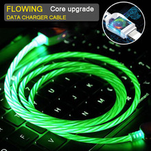Get more info on the LED Flowing Charger Cable For IPhone 7 x xr xs Android Micro Type-c USB Mobile Phone Fast Charging Data USB Magnet Charge Cable