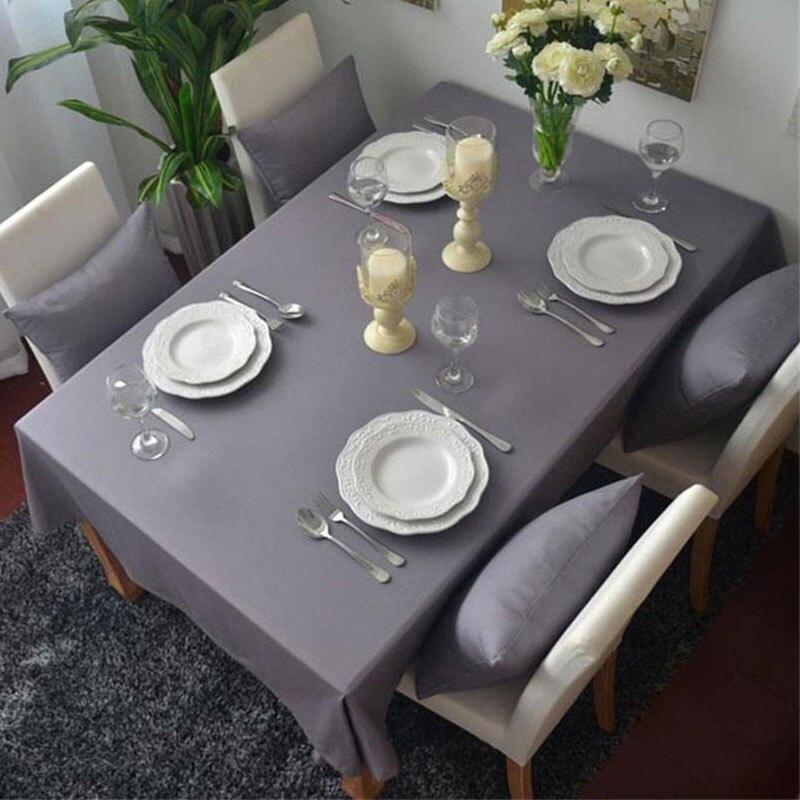Hot sale 100 cotton rectangular tablecloths modern style for Super u table exterieur