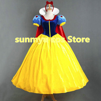 Free Shipping!Snow White Princess Dress  with hair accessory Cosplay Costume,Size Customizable,Halloween Wholesale