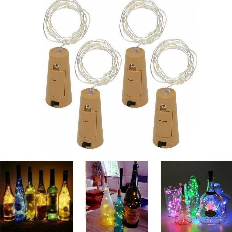 Glow Party Supplies 1m 10led/2m 20led Lamp Cork Shaped Bottle Stopper Light Glass Wine Led Copper Wire String Lights For Xmas Party Wedding Hallowee Commodities Are Available Without Restriction Event & Party