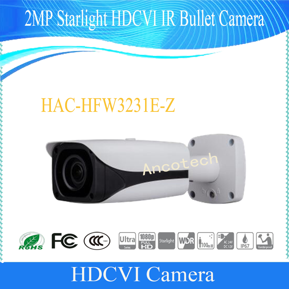 Free Shipping DAHUA Security Camera CCTV 2MP FULL HD Starlight HDCVI IR Bullet Camera IP67 IK10 Without Logo HAC-HFW3231E-Z dh hac hfw2221r z ire6 dahua original hd 1080p infrared night vision security camera ip67 audio cctv camera hac hfw2221r z ire6