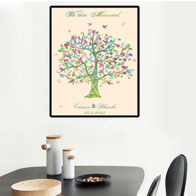Wedding Tree Painting Fingerprint Butterflies Wedding Gifts For