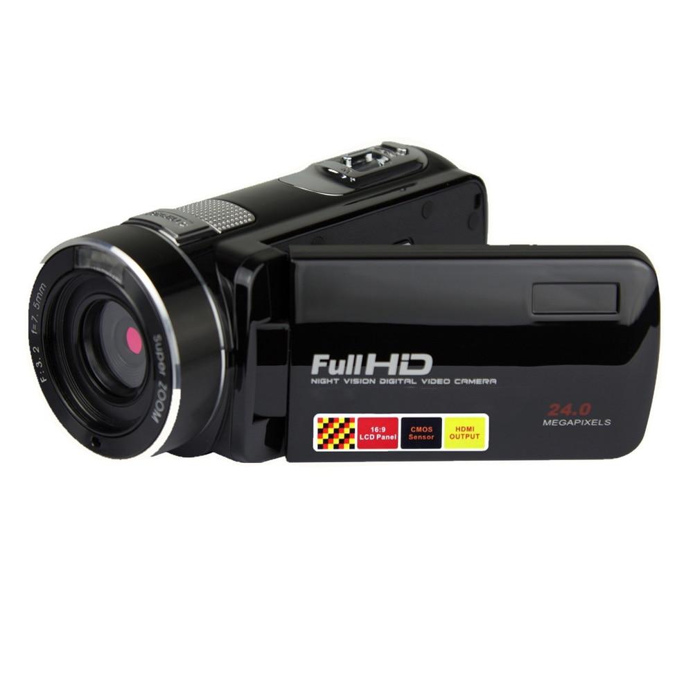 Camcorder Video Camera Nachtzicht Pauze Functie Full HD Camcorders 1080P 24.0MP Vlogging Camera met Afstandsbediening-in Klant Camcorders van Consumentenelektronica op  Groep 1