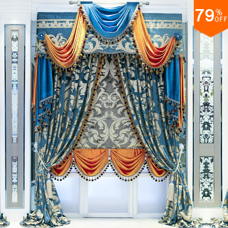 Rod Stick Hang Style Curtains For Restaurant Curtain Phenix Wind Classic Elegant Living Room Curtains Bedroom