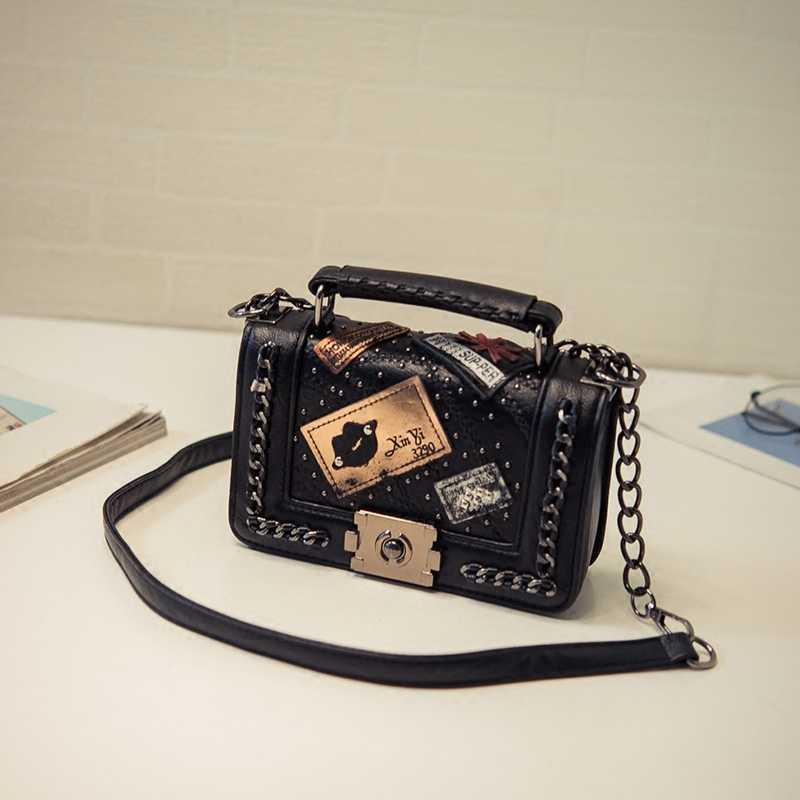 Bolso bandolera de moda para mujer, bolsos y bolsos de mano de marca de diseñador, bolsos de mano de cuero PU, bolso de hombro con cadena 751