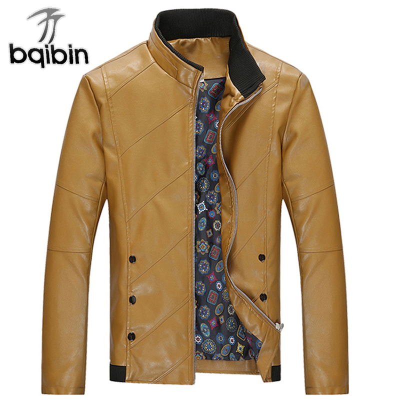 Fashion Mens Leather Jackets 4XL PU Leather Coats Men Outerwear Slim Fit Autumn Male Jackets Brand Clothing