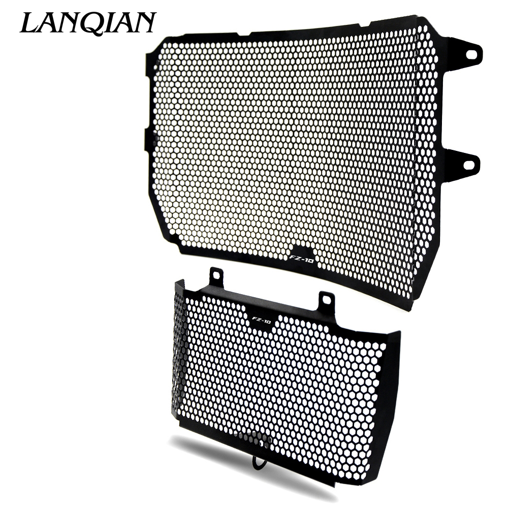 Black Motorcycle Accessories Radiator Guard Protector Grille Grill Cover For YAMAHA MT10 MT-10 MT 10 FZ10 FZ 10 2016-2017