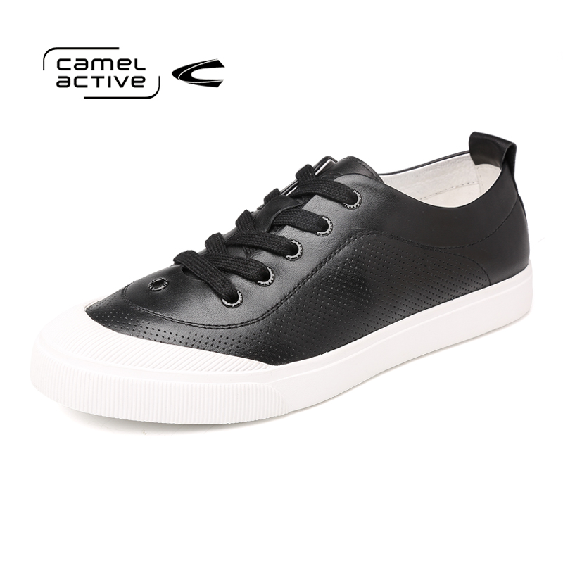 Camel Active Luxury Brand Men Shoes Genuine Leather Casual Shoes Fashion Trendy Black Lace-Up Flat Shoes for Men 176312671