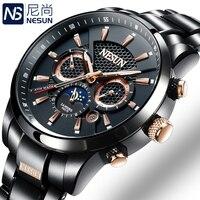 Schweiz NESUN Luxus Marke Uhren Männer Multifunktionale Display Automatische Mechanische Uhr Leuchtende Wasserdichte uhr N9807 1-in Mechanische Uhren aus Uhren bei