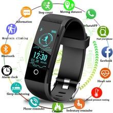 Купить с кэшбэком LIGE New Smart Watch Men Pedometer Sports Watch Blood Pressure Heart Rate Monitor Smart Bracelet Fitness Tracker For Android IOS