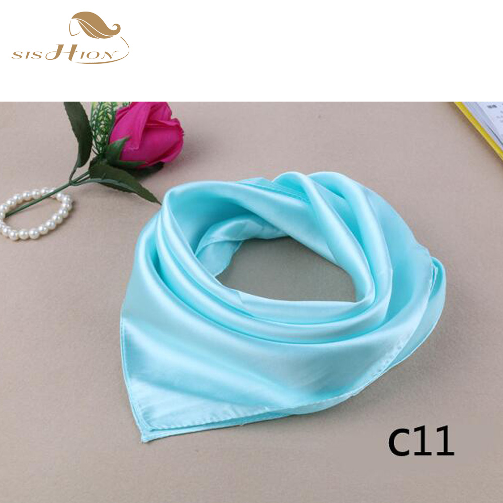 aliexpresscom buy ladies scarves 2016 solid color sky blue vintage scarf women 60cm60cm satin foulard business work office shawl sd0003 from reliable - Foulard Color