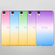 Gradiente de Cor quente Macio TPU Silicone de Volta Caso Capa para o HTC desejo 820 826 626 E9 X9 olho M10 M9 A9 plus caso