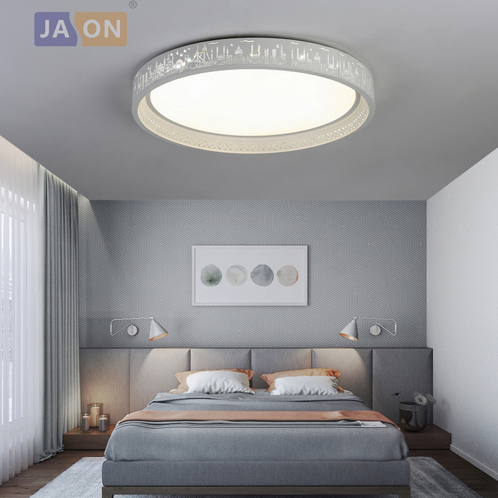 Lampa LED Modern Iron Acryl 6cm White City LED. Światło LED. Lampy sufitowe. Oświetlenie sufitowe LED. Sufitowe lampa do sypialni w Oświetlenie sufitowe od Lampy i oświetlenie na World Chandelier By Jasonlighting Store