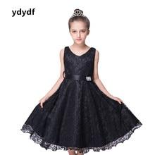 New style lace tank Flower Girl Dresses children  infantis clothing costume 2-7 age