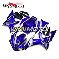 ABS Plastic Injection White Blue Go Complete Motorcycle Fairings For Yamaha YZF R1 2002 2003 Fairing Kit Cowlings