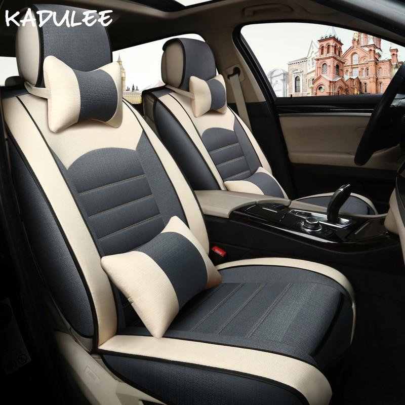 KADULEE Universal font b car b font seat cover For Fiat linea grande punto palio albea
