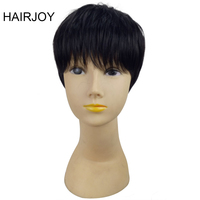 HAIRJOY Wig 1B Color Short Straight Synthetic Woman Pixie Hair High Temperature Fiber Free Shipping 4 Colors Available