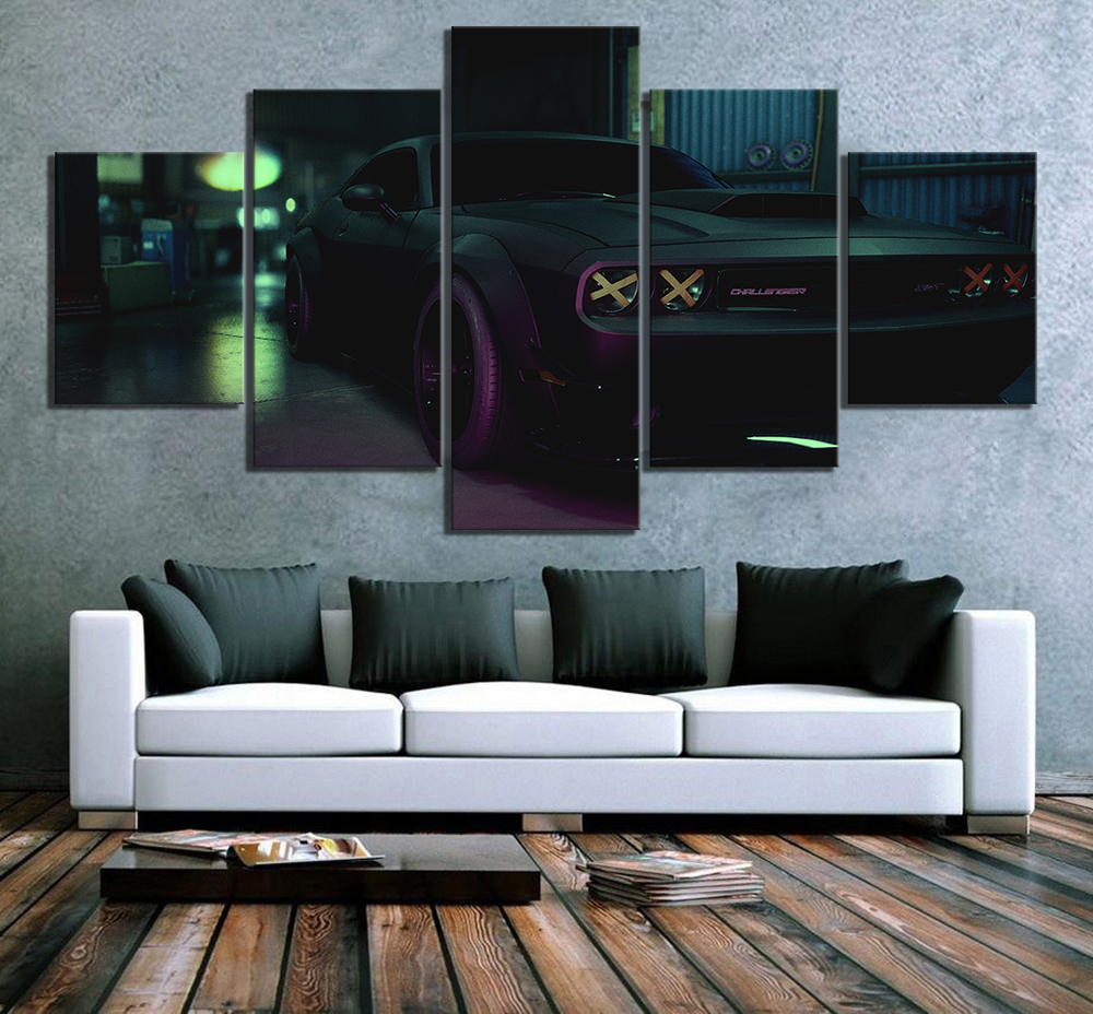 5 Piece HD Picture Need for Speed Luxury Car Poster Games Art Canvas Paintings Wall Art for Home Decor image