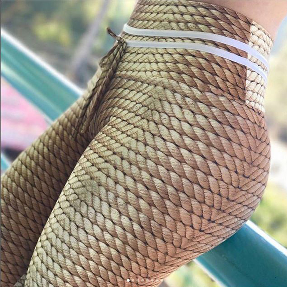 New Style Knitted Rope Print Patchwork Leggings 2018 Women Push Up Fitness Elastic Pants Female Sporting Legging