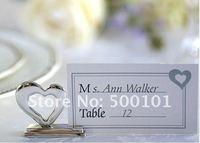 100 pz/lotto amore cuore di carta del posto titolari titolare placecard argento colore favore di cerimonia nuziale del regalo della decorazione del partito Spedizione Gratuita