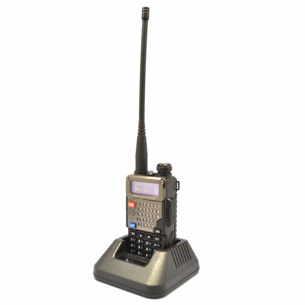 New Baofeng UV-5RE + PLUS Polizei Walkie Talkie Scanner Radio Dual Band Cb Ham Radio Uhf 400-520 MHz VHF136-174MHz