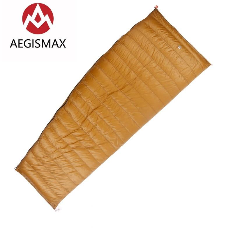 AEGISMAX Открытый конверт 95% белый гусиный пух Подпушка спальный мешок зимний кемпинг Пеший Туризм оборудования Шестерни