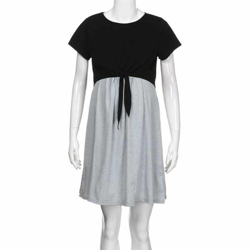 Женское платье для кормления, материнство мамы, комбинированные повязки для младенцев, для грудного вскармливания, платье vestidos Feb 5 @ 35