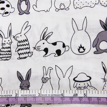 Rabbit Patterned Cotton Textile