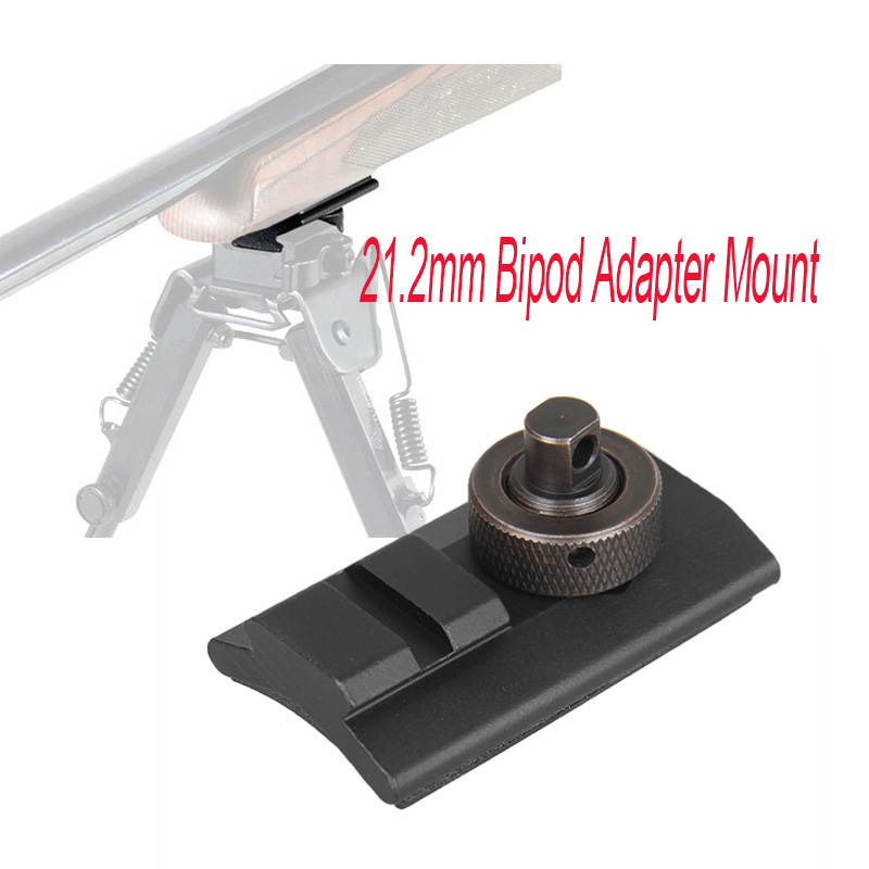Paintball Rifle de vanatoare de fotografiere Bipod Weaver Rail pivotant Stud Picatinny slot Adaptor 21.2mm Bipod Adaptor Mount gs33-0209