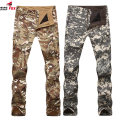 new fashion outwear softshell fleece warm winter men Breathable waterproof Wear Camouflage pants trousers LO2405