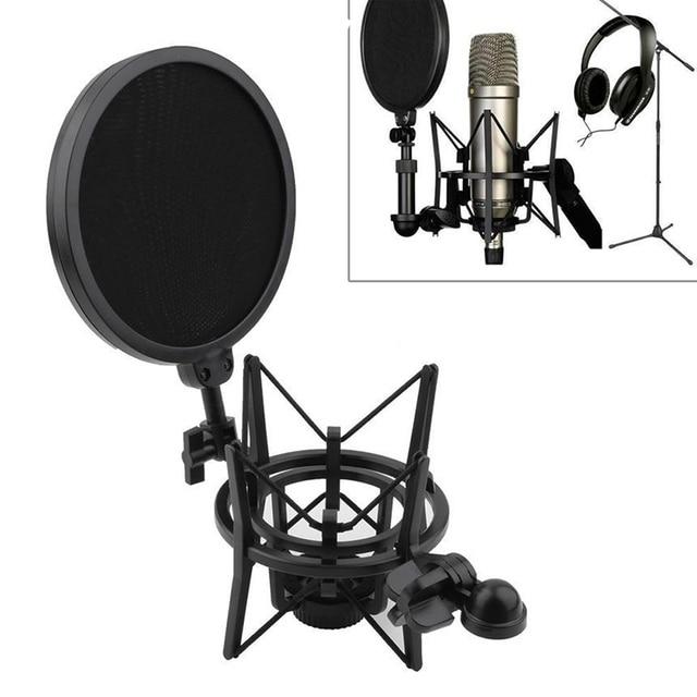 New Audio Professional Condenser Microphone Mic Studio Sound Recording W Shock Mount