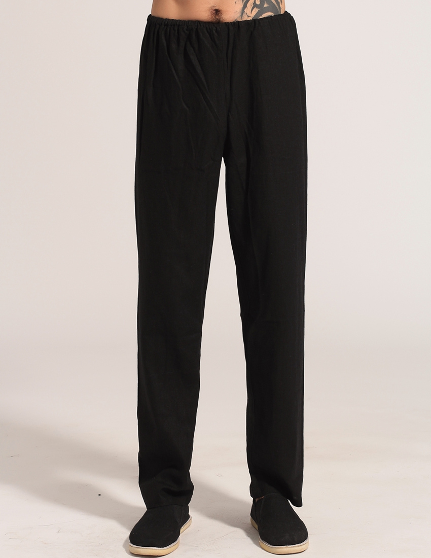 Online Buy Wholesale black linen pants men from China black linen ...