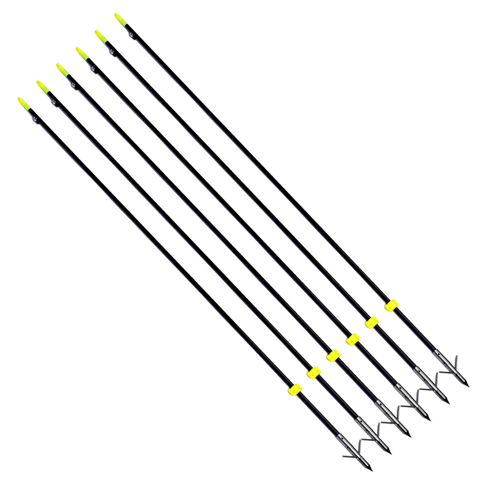 "Image 4 - 3/6/12 pcs Professional 35"" Long Bow Fishing Shooting Arrows 8mm Fiberglass Shaft Arrows for Compound/Recurve Bow B-in Bow & Arrow from Sports & Entertainment"