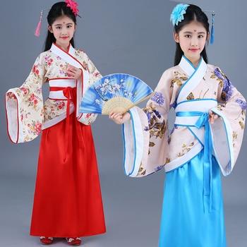 Girls Costume Hanfu Children Princess Royal Chinese Style Court Cosplay Stage Performance