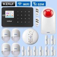 KERUI W18 Wireless Home Security Alarm Wifi GSM System APP Control Smoke Sensing Gas Sensing Alarm Device Combination Kit