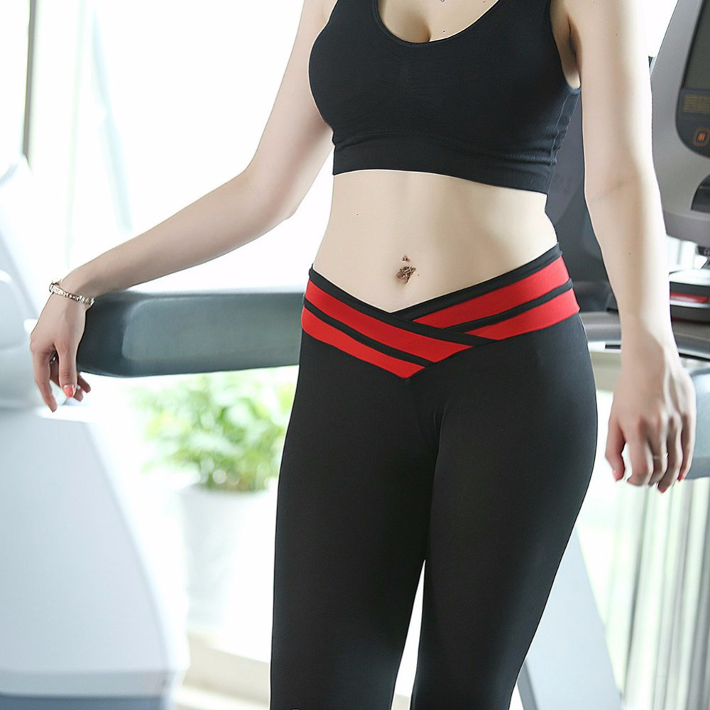 Hot Women Yoga Pants Sport Fitness Night Running Sportswear Tights Quick Drying Compression Trousers Gym Slim Legging
