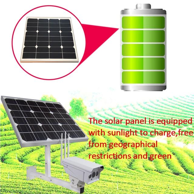 30W Solar Panel IP Camera 1080P HD Wireless Wifi Security Camera Outdoor 3G/4G SIM Solar Powered CCTV Surveillance With 16GB 5