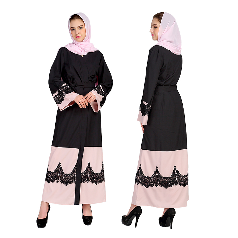 Malaysia Cardigan Clothing Turkey Abaya Dubai Muslim Women Speaker Sleeve Lace Dress Turkish Robe Islamic Abayas Caftan Dresses