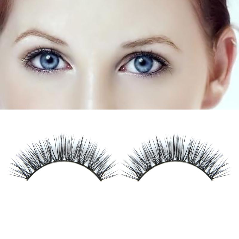 1 Pair Thick Long New 3D Fashion False Eyelashes Bushy Cross Natural Mink Hair False Eyelashes Extension Handmade Beauty Tools