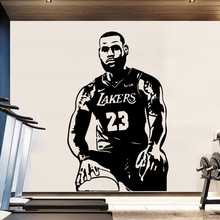 Fashion Los Angeles LeBron James L A Vinyl Stickers Basketball Wallpaper For boys Kids Rooms Decor Wall Art Murals