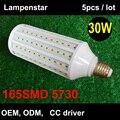360 graus Super brilhante 165 pcs SMD5630 30 W Lâmpada LED E27 AC220V 230 V AC240V luz Milho AC85-265V 3000lm Lampara Bombilla