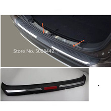 цена на For Mitsubishi Outlander 2016 2017 2018 2019 car body external rear bumper protect trunk trim cover plate pedal threshold 1pcs