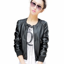 Jaqueta de couro feminina, jaqueta e casaco para roupa exterior feminino de primavera do outono, jaqueta de couro para moto feminina, vestuário de couro feminino