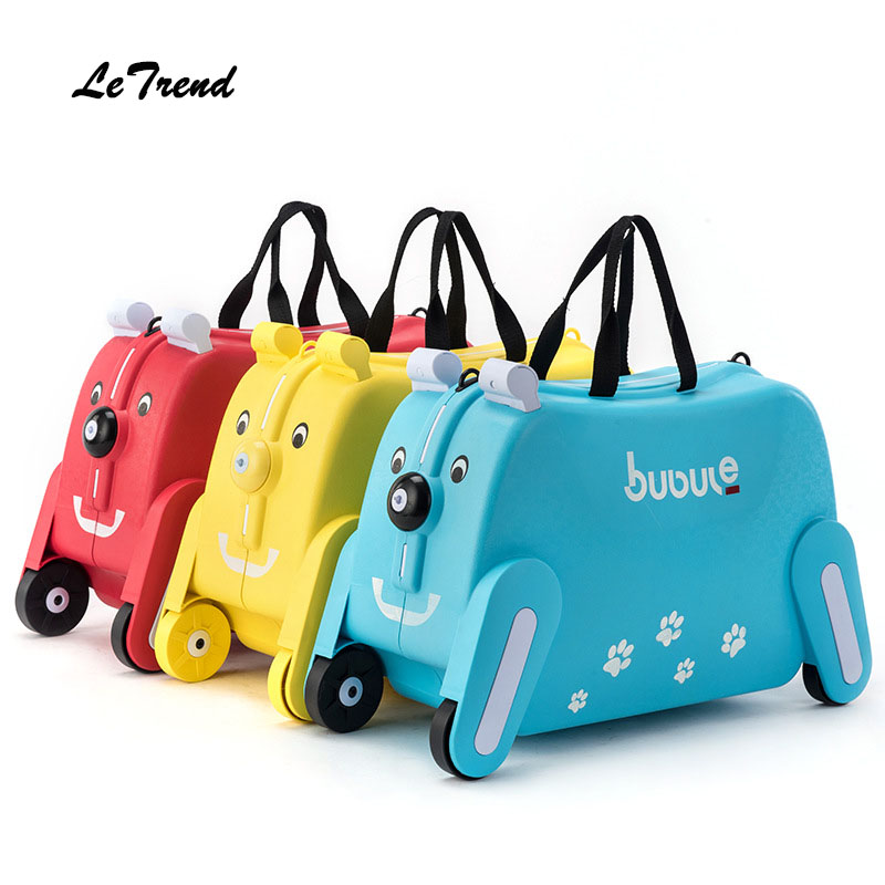 LeTrend toy motorcycle shape Kids Rolling Luggage Cute Cartoon Children Suitcase Wheels Cabin Girls Trolley Student Travel Bag new fashion style cute toy motorcycle shape kids children rolling luggage boy and girl trunk trolley case travel box suitcase