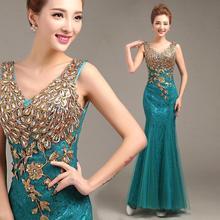 Sale дважды бисероплетение v-образным русалка hot пром dress вырезом плеча платья