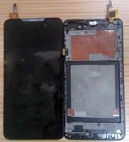 100% Warranty Black for effire a7 LCD Display sensor Touch Screen Digitizer Assembly with frame mobile phone parts